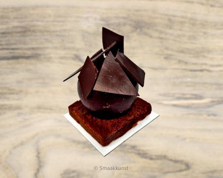 De chocoholic als individueel gebak, uit het assortiment standaard taarten van Smaakkunst Roeselare