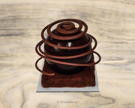 De samba als individueel gebak, uit het assortiment standaard taarten van Smaakkunst Roeselare