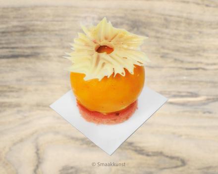De sparkling als individueel gebak, uit het assortiment standaard taarten van Smaakkunst Roeselare