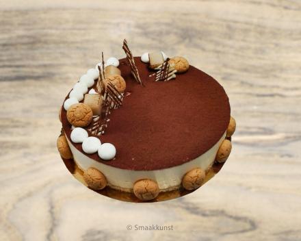 De tiramisu uit het assortiment standaard taarten van Smaakkunst Roeselare
