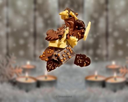kerstkarakjes uit het assortiment Kerst- en eindejaarsgebak door patisserie en chocolaterie Smaakkunst Roeselare
