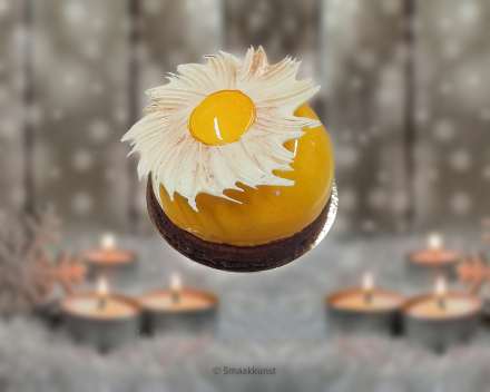Sparklingtaart als Kerst- en eindejaarsgebak door patisserie en chocolaterie Smaakkunst Roeselare