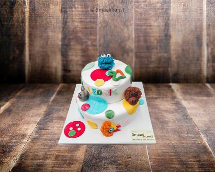 Stapeltaart handpoppen door patisserie en chocolaterie Smaakkunst te Roeselare